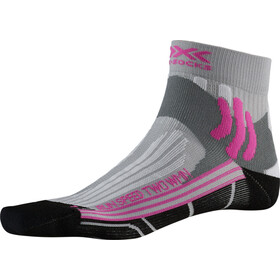 X-Socks Run Speed Two Chaussettes Femme, pearl grey /opal black